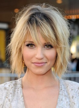 Shaggy Bob Hairstyle Short Straight Human Hair Women Wigs 10 Inches