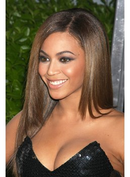 Beyonce Hairstyle 100% Indian Remy Hair Lace Wig 20 Inches Silky Straight