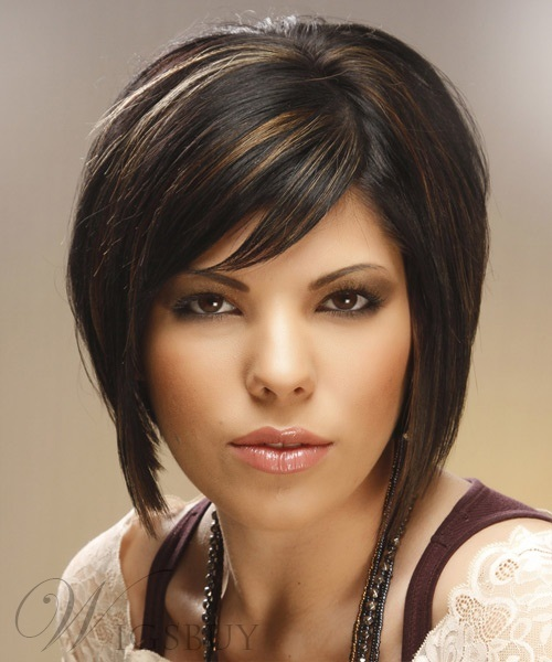 100% Human Hair Capless Wig 10 Inches Straight Stylish