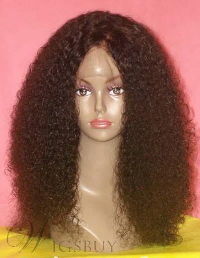 New Fashion Brazilian Hair 20 Inches Front Lace Wig for African Amirican Ladies
