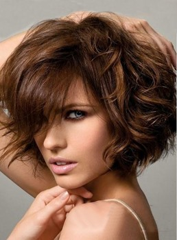 New Arrival Free Style Short Wavy Bob Wig 100% Human Hair 8 Inches