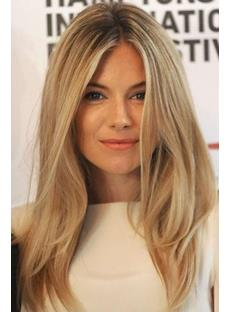Sienna Miller Long Straight Lace Front Wigs Human Hair 18 Inches