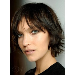 Best Latest Sassy Casual Short Straight Hairstyle 100% Real Human Hair Wig 8 Inches