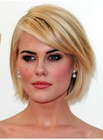 Graceful Loose Carefree Short Straight Lace Wig 100% Real Human Hair 10 Inches
