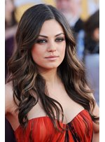Mila Kunis Long Wavy Lace Front Wigs Human Hair 20 Inches