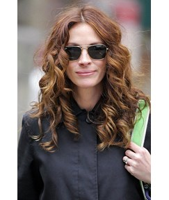 Middle Parting Long Curly Lace Front Wigs Human Hair 18 Inches