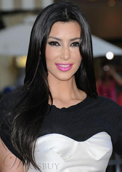 Kim Kardashian Long Straight Lace Front Wigs Human Hair 20 Inches