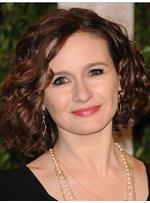 Emily Mortimer Remy Hair Medium Curly Bob Hairstyle Full Lace Wigs 12 Inches