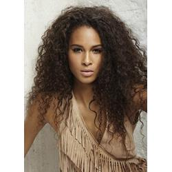 100% Indian Human Hair Fluffy Afro Hairstyle Long Small Curly Lace Wig 22 Inches