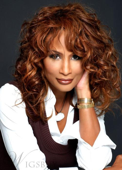 Hot Sale Top Quality Beverly Johnson Hairstyle Long Curly Super Comfortable Wig 18 Inches 100% Indian Human Hair