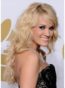 Carrie Underwood Long Wavy Wigs Human Hair 20 Inches