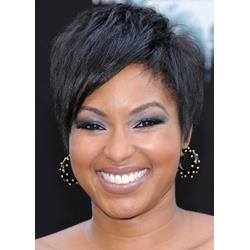 Afro American Hairstyle Short Straight 100% Human Hair Wigs