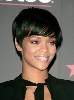 Stylish Rihanna Hairstyle Short Straight 100% Indian Remy Hair