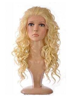 New Fashion Custom Long Curly Blonde Lace Wig 24 Inches