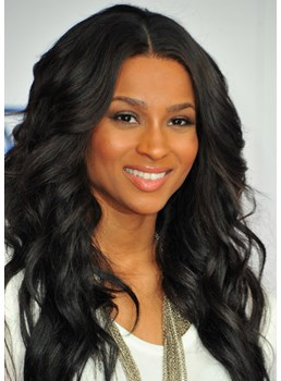 Ciara Long Wavy Lace Front Wigs Human Hair 24 Inches