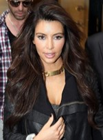 Amazing Elegant Tailored Kim Kardashian Hairstyle Long Loose Wavy Brown Lace Wig 100% Human Hair 24 Inches