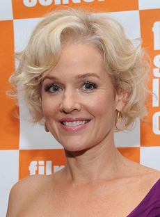 Penelope Annmiller Short Curly Lace Front Wigs 100% Human Hair for Older Women