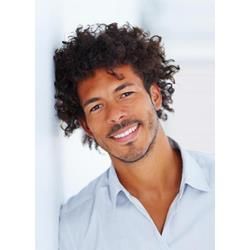 Afro American Mens Hairstyle Short Curly Human Hair Full Lace Wigs