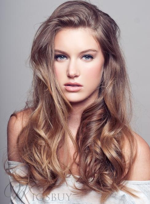 Top Quality Sexy Attractive Long Curly Lace Wig 100% Human Hair 20 Inches