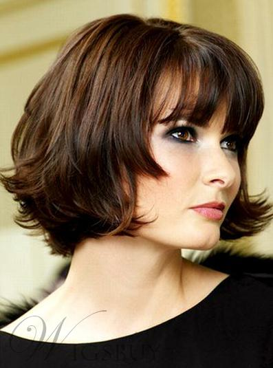 Attractive High Quality Inexpensive Short Wavy Lace Wig 100% Real Human Hair 8 Inches 10454461