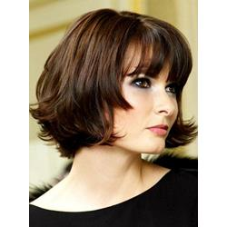 Attractive High Quality Inexpensive Short Wavy Lace Wig 100% Real Human Hair 8 Inches