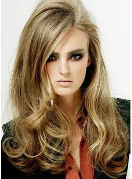 New Arrival Hot Sale Long Curly Hairstyle with Tousled Big Wavy Lace Wig 100% Human Hair 20 Inches