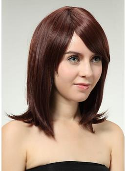 Simple Impressive Natural Medium Straight Synthetic Hair Wig 14 Inches