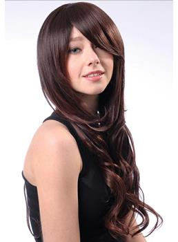 Deluxe Polished Amazing Long Wavy Synthetic Hair Wig 24 Inches