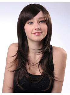 Fashion Kindly Polished Long Straight Synthetic Hair Wig 22 Inches