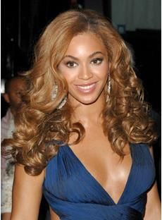 Beyonce Long Big Curly Full Lace Wigs Human Hair 20 Inches