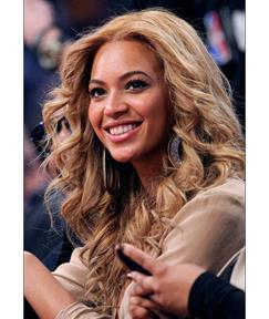 Specially Designed Beyonce Knowles Farrah Fawcett Hairstyle Long Wavy Full Lace Wig 100% Human Hair 18 Inches