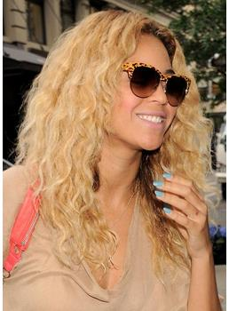 Boutique Fascinating Beyonce Knowles Hairstyle Long Wavy Full Lace Wig 100% Human Hair 18 Inches Blonde