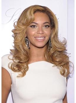 New Fashion Amazing Beyonce Hairstyle Long Big Curly Lace Front Wig 100% Human Hair 20 Inches