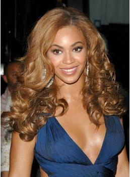 Top Quality Beyonce Hairstyle Long Big Curly Full Lace Wig 100% Human Hair 20 Inches Brown