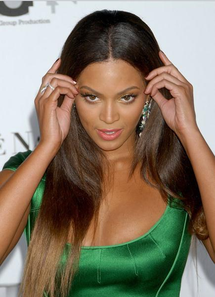 New Fashion Beyonce Knowles Hairstyle Long Smooth Straight Lace Front Wig 100% Human Hair 22 Inches Top Quality