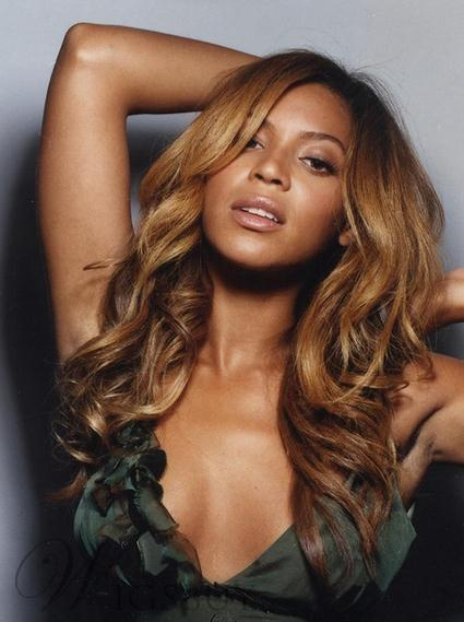 Stylish Amazing Beyonce Knowles Hairstyle Long Wavy Lace Front Wig 100% Human Hair 22 Inches
