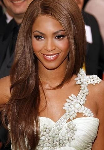 Premier 100% Human Hair Beyonce Knowles Carefree Hairstyle Long Loose Body Wavy Lace Wig 22 Inches
