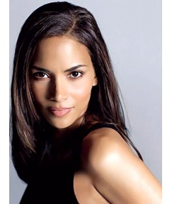 Halle Berry Pretty layered Glossy medium straight lace wig 100% human hair 14 Inches