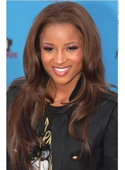 Gorgeous Soft Attractive Ciara Long Loose Wavy Lace Wig 100% Real Human Hair 20 Inches
