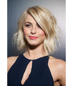 Julianne Hough Messy Short Wavy Lace 100% Real Human Hair Wig 10 Inches