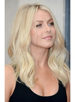 Elegant Polished Julianne Hough Medium Wavy Lace Wig 100% Real Human Hair 16 Inches
