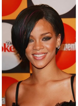 Two-Tone Look Elegante Short Straight Lace Wig 100% Real Human Hair 8 Inches