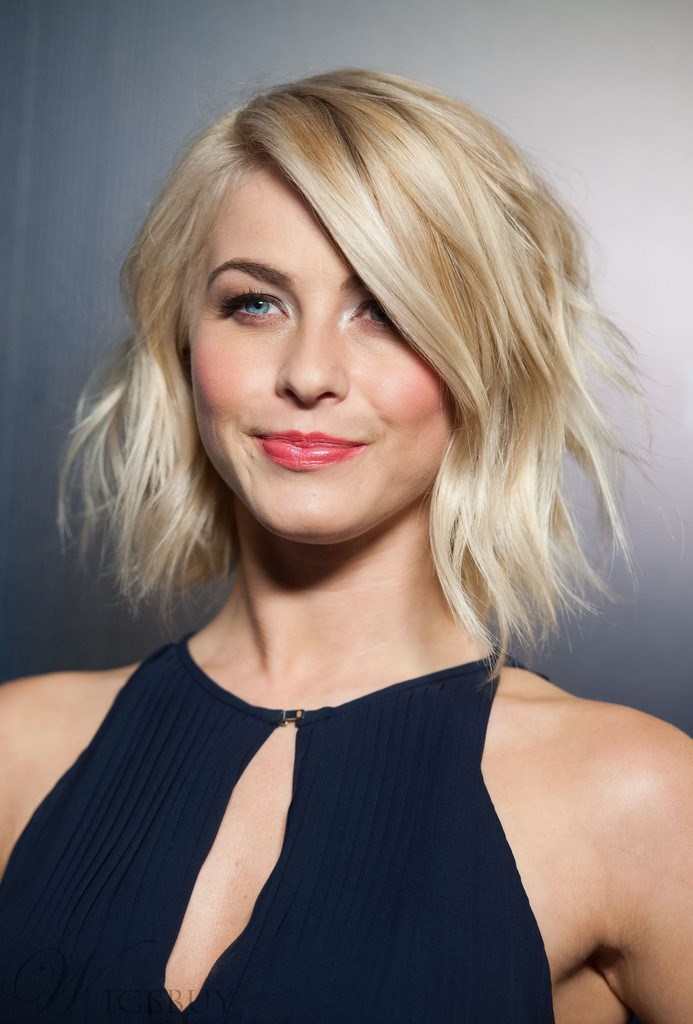 Julianne Hough Messy Short Wavy Lace 100 Real Human Hair Wig 10