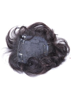 Cheap Fluffy Curly 100% Indian Human Hair Clip In Hair Pieces Top Quality