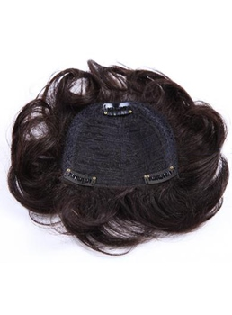 Wholesale Cheap 100% Indian Human Hair Clip in Hair Pieces Wavy