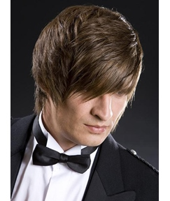 New Arrival Unique Formal 100% Remy Human Hair Short Straight Full Lace Cap Mens Wig
