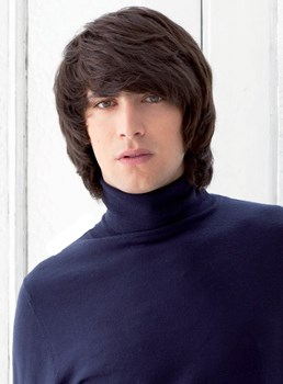 Cheap 100% Human Hair Kindly Medium Thick Straight Mens Wig 10 Inches