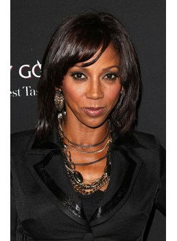 Holly Robinson Peete Short Straight Haitstyle Neat Soft 100% Real Human Hair 10 Inches