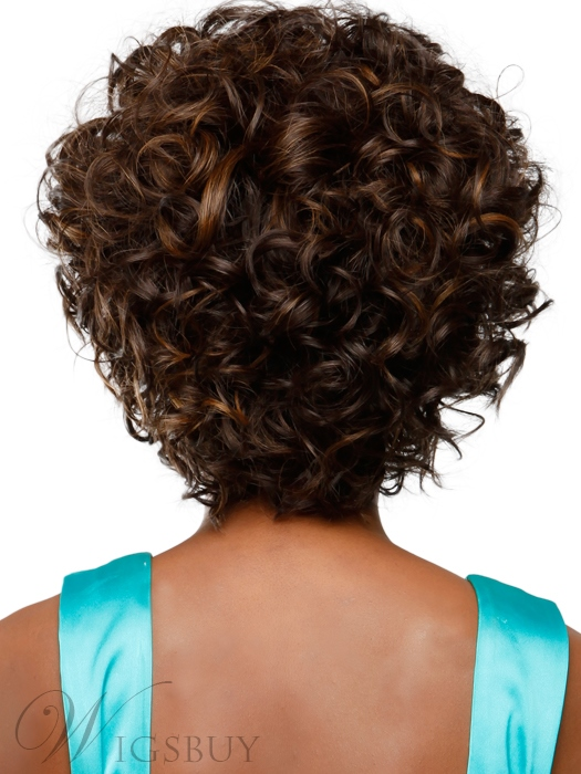 Boutique High Quality Fashionable Short Curly 100% Real Human Hair Wig 10 Inches