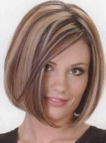 Straight Bob Hairstyle 100% Indian Remy Hair Lace Wig 8 Inches
